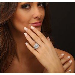 14KT White Gold 4.38ctw Diamond Ring