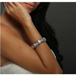14KT White Gold 4.03ctw Diamond Bracelet
