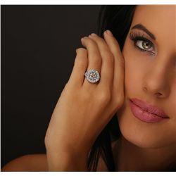 Platinum 3.32ctw Diamond Ring