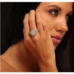 18KT White Gold 4.01ctw Diamond Ring