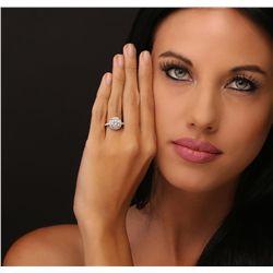 14KT White Gold 3.43ctw Diamond Ring