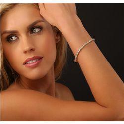 14KT Yellow Gold 7.26ctw Diamond Tennis Bracelet