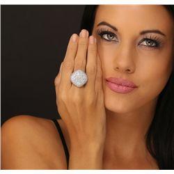 18KT White Gold 7.44ctw Diamond Ring