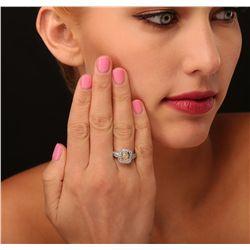 18KT White Gold 1.21ctw Diamond Ring