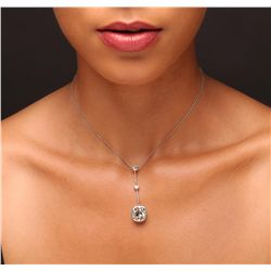 Platinum 9.95ctw Diamond Necklace
