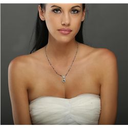 Platinum 4.54ctw Diamond Vintage Necklace