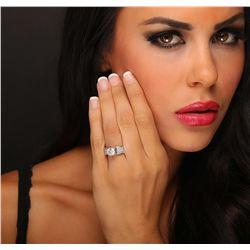 18KT White Gold 3.45ctw Diamond Ring