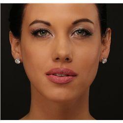 14KT White Gold 5.05ctw Diamond Stud Earrings