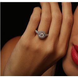 14KT White Gold 1.89ctw Diamond Ring
