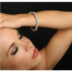 Platinum 27.50ctw Diamond Tennis Bracelet