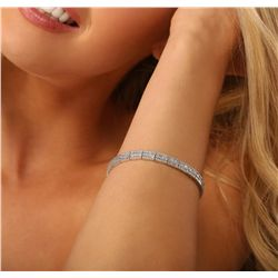 14KT White Gold 4.53ctw Diamond Bracelet