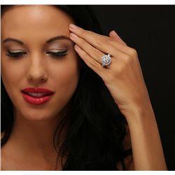14KT White Gold 4.62ctw Diamond Ring