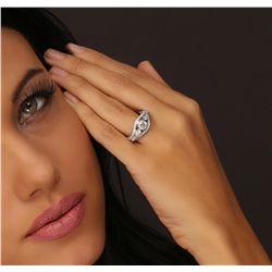 18KT White Gold 2.19ctw Diamond Ring