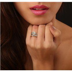 14KT Yellow Gold 1.60ct I-1/M Diamond Wedding Ring Set