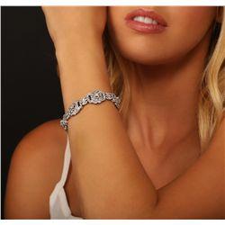 18KT White Gold 4.00ctw Diamond Bracelet
