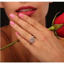 Platinum 4.40ctw Diamond Ring