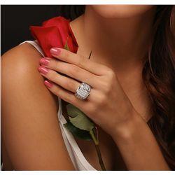 18KT White Gold 4.65ctw Diamond Ring