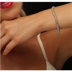 14KT White Gold 7.33ctw Diamond Bracelet
