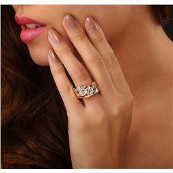 18KT Yellow Gold 1.72ct I-1/Light Yellow Diamond Ring