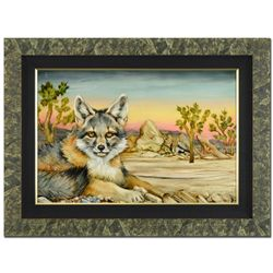 Original Desert Fox and Joshua Trees by Martin Katon