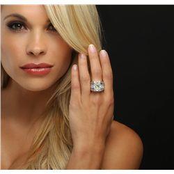 18KT White Gold 11.07ctw Diamond Ring