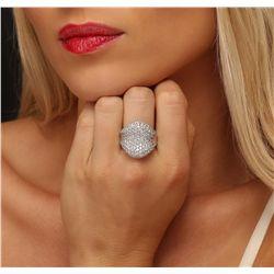 14KT White Gold 5.23ctw Diamond Ring