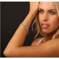 14KT White Gold 8.00ctw Diamond Bracelet