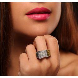 14KT White Gold 4.28ctw Diamond Ring