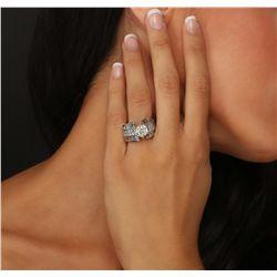 18KT White Gold 4.56ctw Diamond Ring