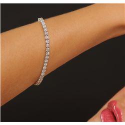 18KT White Gold 5.78ctw Diamond Tennis Bracelet