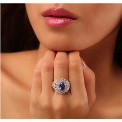 14KT White Gold 2.20ct Tanzanite and Diamond Ring