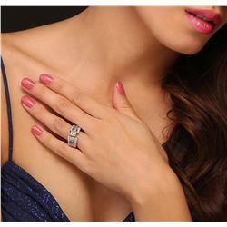 18KT White Gold 1.02ct I-1/J Diamond Ring