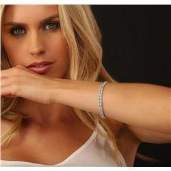18KT White Gold 6.83ctw Diamond Bracelet