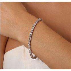 14KT White Gold 7.49ctw Diamond Tennis Bracelet