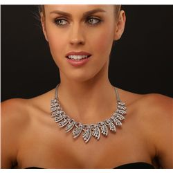 14KT White Gold 11.00ctw Diamond Necklace