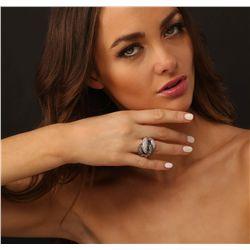 14KT White Gold 4.98ctw Diamond Ring