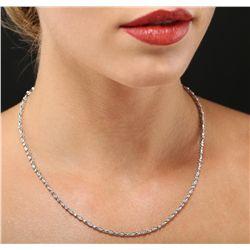 14KT White Gold 0.33ctw Diamond Necklace