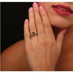 18KT White Gold 3.24ctw Diamond Ring