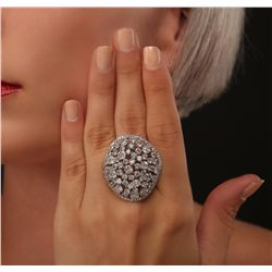 14KT White Gold 6.74ctw Diamond Ring