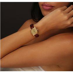 Ladies Vintage Rolex DateJust 18KT Yellow Gold Wristwatch