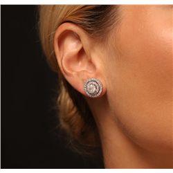 14KT White Gold 2.88ctw Diamond Earrings