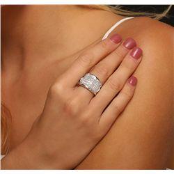 18KT White Gold 4.55ctw Diamond Ring