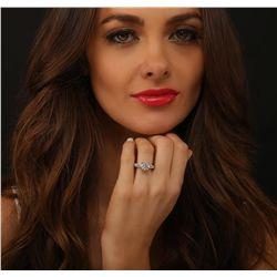 18KT White Gold 3.91ctw Diamond Ring