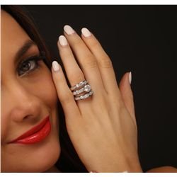 18KT White Gold 4.09ctw Diamond Ring