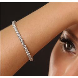 14KT White Gold 7.39ctw Diamond Tennis Bracelet