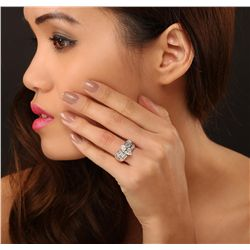 18KT White Gold 1.73ct EGL USA Certified Diamond Ring