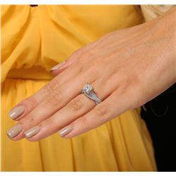 18KT White Gold 1.48ct I-2/J Diamond Ring