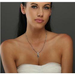Platinum 4.81ctw Diamond Vintage Necklace