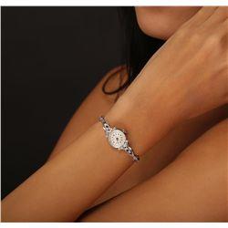 Ladies Bulova 14KT White Gold 0.15ctw Diamond Wristwatch