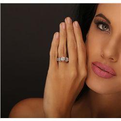 14KT White Gold 4.05ctw Diamond Ring